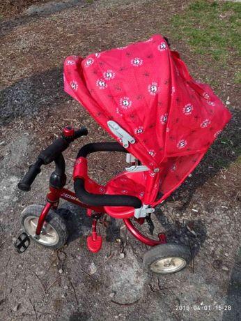 Детский велосипед Azimut с родительской ручкой