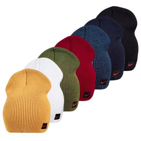 Двойная вязаная шапка Найк ог.52-58см