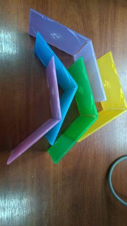 Бокс коробка цветной пластик для дисков сд\двд cd\dvd box