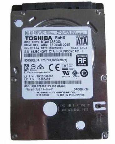 "Б/У HDD MQ01ABF050 2,5"" жорсткий диск Toshiba Sata 5400об/хв 500ГБ 9мм"