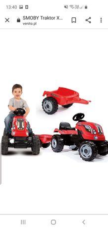 Smoby Traktor XL Czerwony Przyczepa