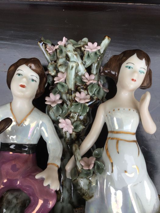 Grupo escultórico casal porcelana da Bavária alemão marcado Vila Nova de Milfontes - imagem 1