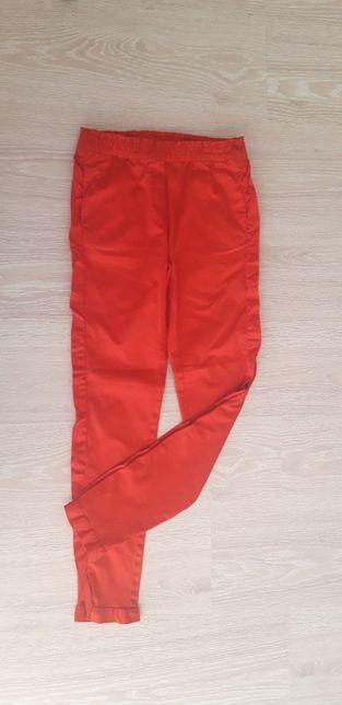 Śliczne czerwone spodnie 164 Nowe