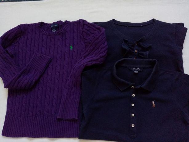 Ralph Lauren sweter cable bluzeczka polo rozm. z met. 12-14 + gratis