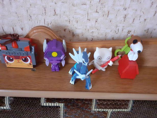 Іграшки з макдональдса за 5 шт 60 гривень