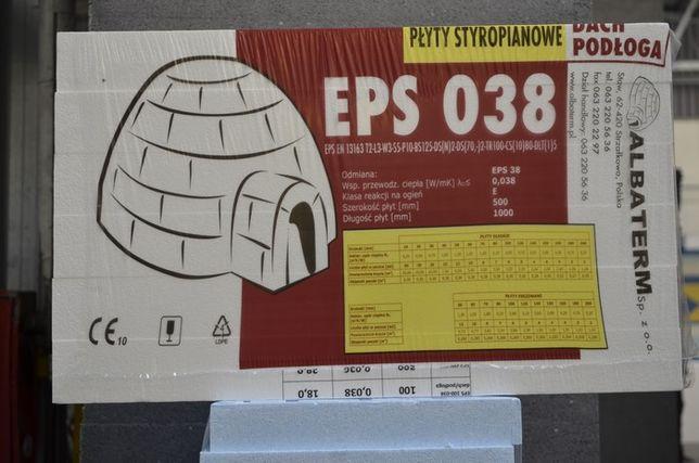 STYROPIAN EPS-038 dach/PODŁOGA grubość 5 cm biały - 10,65 zł/m2