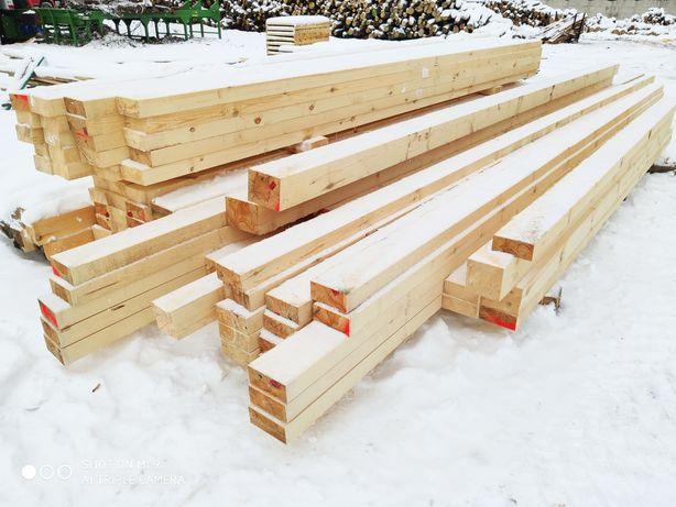 Drewno konstrukcyjne więźba dachowa kantówki deski