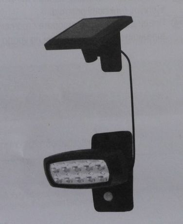 Lampa Solarna naświetlacz 10 LED IP44 zmierzch ruch