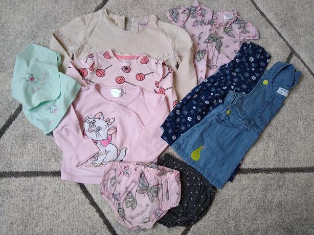 Paka ubrań dla dziewczynki 74 wiosna lato jesień