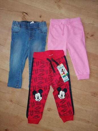 Spodnie dresowe jeansy dżinsy 80/86cm