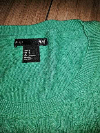 Sweterek zielony S z H&M