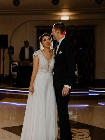 Suknia ślubna Chava Tom Sebastien + długi welon
