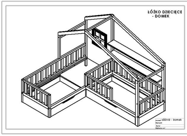 Łóżko dziecięce Domek - Projekt
