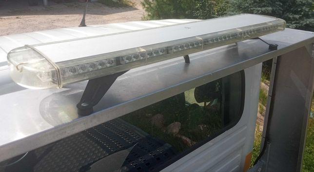 Belka ostrzegawcza LED ze stelażem, kogut, laweta