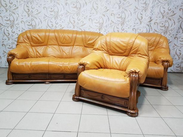 Доставка по Украине! Шкіряний диван крісла.Кожаный комплект.Кожаный