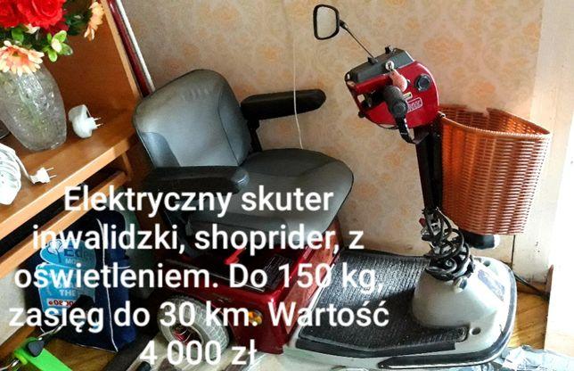 Elektryczny skuter inwalidzki dla seniora Shoprider Sovering 3