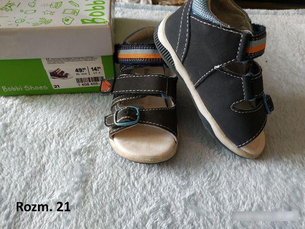 Buciki dziecięce chłopięce 21, Bobbi Shoes, sandałki
