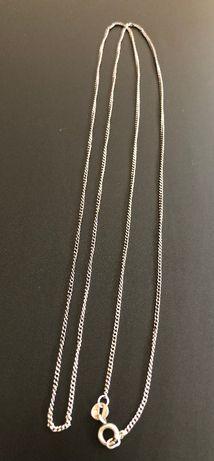 Stary delikatny 80 cm srebrny łańcuszek srebro próba 830, vintage