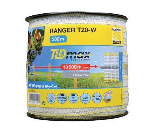 Taśma RANGER T20-W TLD 200m (20mm), biała