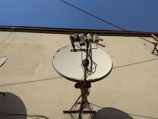 Montaż anteny satelitarnej.