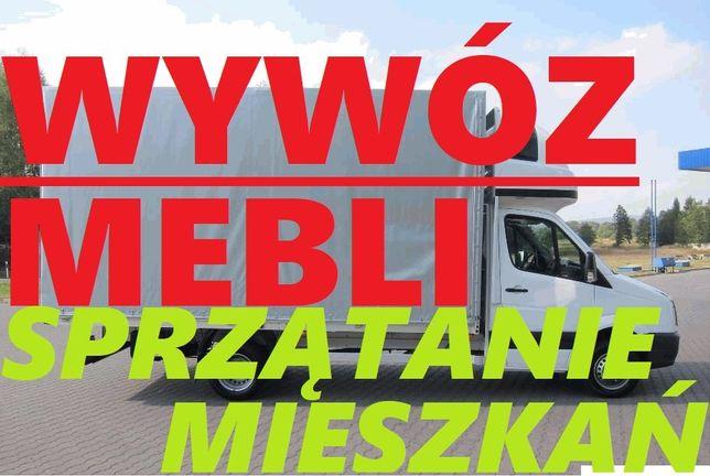 WYWÓZ MEBLI/Utylizacja ubrań/GRUZU/sprzętu RTV/AGD, zabieramy WSZYSTKO