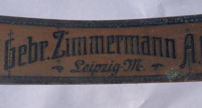Табличка с антикварного пианино Gebr.Zimmermann Leipzig