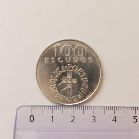 Moeda 100 Escudos Comemorativa 25 Abril em Prata do ano 1976