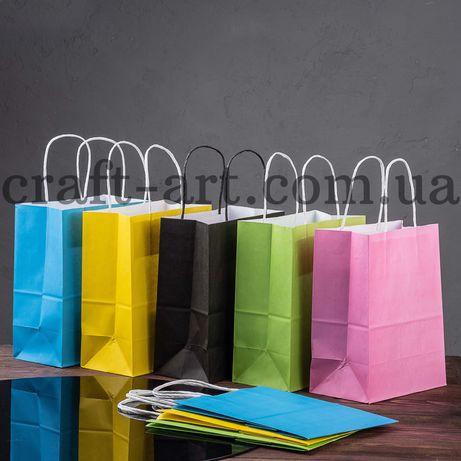 Крафт пакеты, цветные, пакеты саше, бумага, наклейки, нанесение лого
