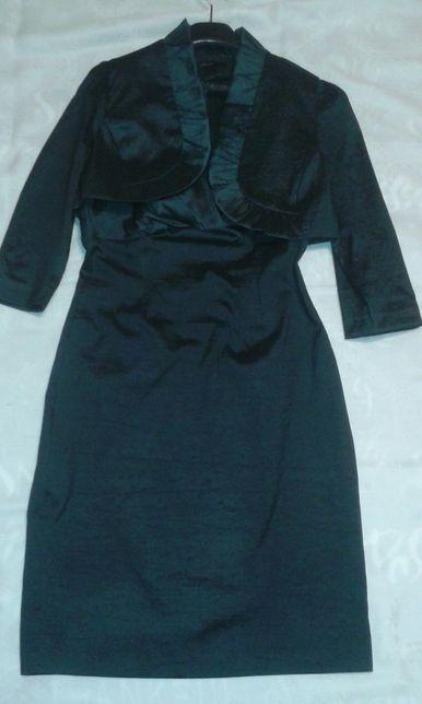 Komplet: kokatjlowa, wieczorowa sukienka z bolerkiem, roz 36/38