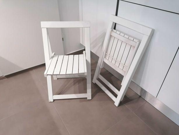 Cadeiras articuladas (madeira, em branco)