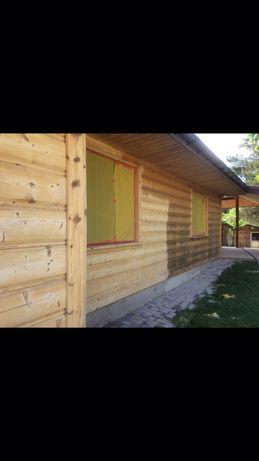 Sodowanie pudrowanie piaskowanie domów drewnianych drewna z bała cegly