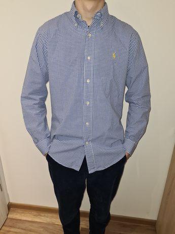 Koszula S/M Ralph Lauren Polo niebieska kratka