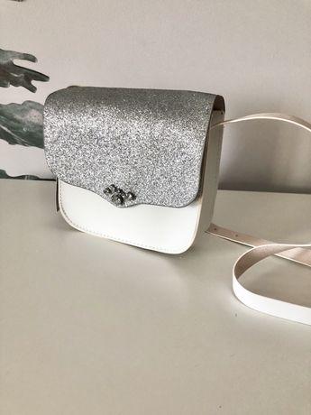 Nowa torebka Zara Girls brokat listonoszka