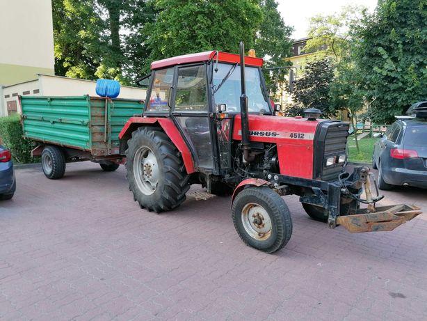 Ciągnik rolniczy URSUS 4512 + Przyczepa jednoosiowa PRONAR T654/1