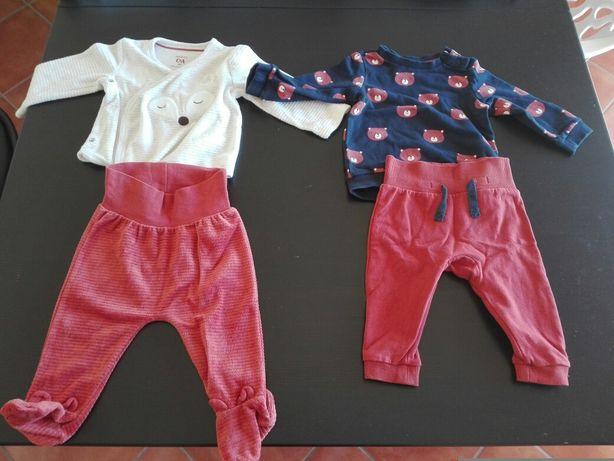 2 conjuntos bebé 68cm