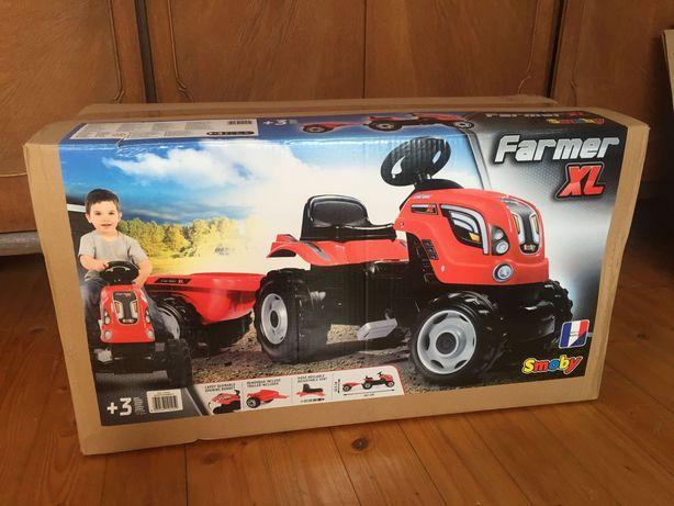 Traktor z przyczepą Farmer xl czerwony Smoby
