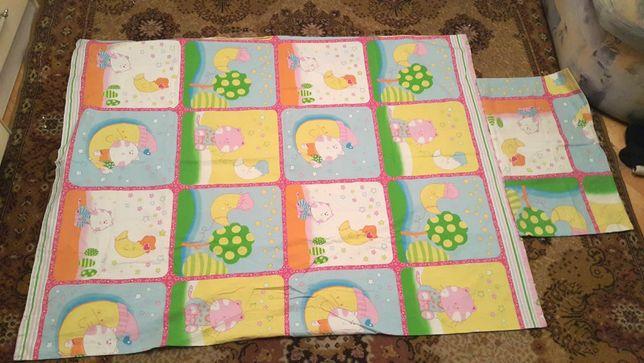 Детское постельное бельё 4 комплекта для мальчика и девочки 1-5 лет