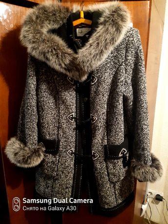 Пальто женское зимнее, очень теплое 52р.