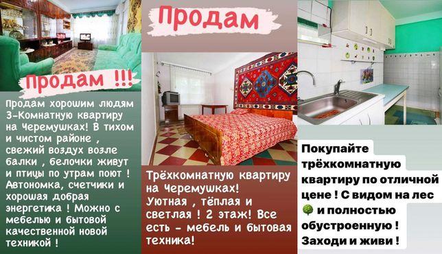 3-х комнатная 2-й этаж с АО на Черёмушках