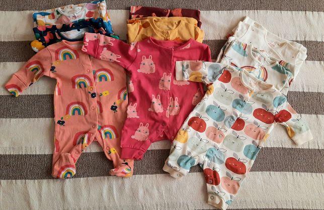 Пижамы человечки слипы next 56 см для девочки