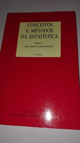 Conceitos e Métodos da Estatística - Uma variável a uma dimensão