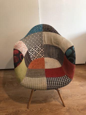Krzeslo Patchwork kolorowe Super Okazja ! Pilnie sprzedam