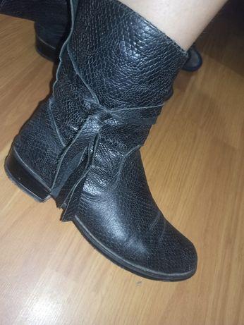 Ботинки кожаные 38 размер, 24.5см