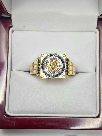 wyjątkowy złoty sygnet p585 14k jak Versace 6,89g