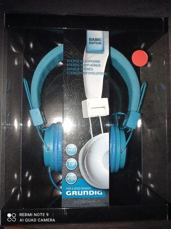 Słuchawki Grundig niebieskie