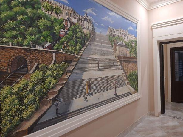 с ремонтом 2х комнатная картира в новом сданном доме. Одесские трад.