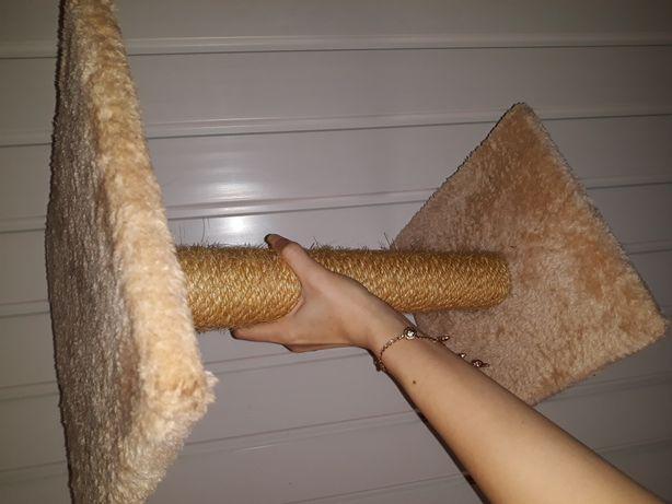 Уровневая двухъярусная когтеточка Karlie для котят с подиумом 2 этаж