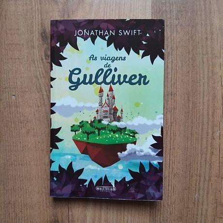 """Livro clássico """"As Viagens de Gulliver"""" de Jonathan Swift"""