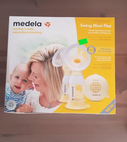 Laktator Medela Swing Maxi Flex podwojny + gwarancja + nowe konektory