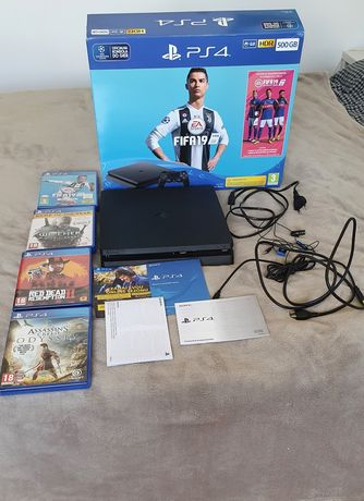 PlayStation PS 4 Slim 500 GB Wiedźmin FIFA Assassins Creed